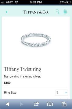 Tiffany twist ring $150. Simple & I love it