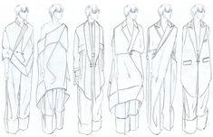 Fashion Sketchbook - fashion illustrations; line up; fashion portfolio // Mehrzad Hemati