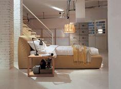 PRIVE' bed FRAUFLEX design Antonella Frezza
