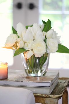 Awesome Spring Flower Arrangements For Centerpieces Decor - Silk Flower Arrangements ad a burst of color and class. This article gives pointers for decorating with an arrangement. Silk flower arrangements are c. White Flower Arrangements, Artificial Flower Arrangements, Vase Arrangements, Flower Vases, Artificial Flowers, Peonies Centerpiece, White Tulips, White Flowers, Fake Flowers