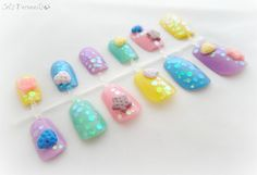 Pastel cookies 3D kawaii nails Japanese nail art by by celdeconail, $25.00