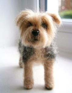needle felted yorkshire terrier by adore62, via Flickr