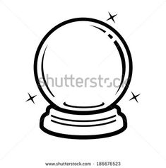 vector black crystal ball icon on white Ring Tattoos, S Tattoo, Body Art Tattoos, Small Tattoos, Stick N Poke Tattoo, Stick And Poke, Doodle Inspiration, Tattoo Inspiration, Crystal Ball Tattoo