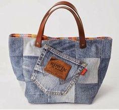 Criar com Tecidos: Bolsa em Patchwork de jeans