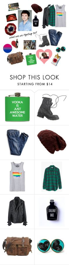 """""""Grantaire- Les Mis"""" by beckybesel ❤ liked on Polyvore featuring Jeffrey Campbell, Victoria's Secret, Univibe, Madewell, men's fashion and menswear"""
