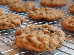 Oatmeal Brown Sugar Cookies with Raisins and Pecans - I would probably substitute the raisins for chocolate chips, but still.. Tasty!