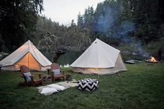 Shelter Co. offers camping setups for parties, weddings, retreats, and other events.