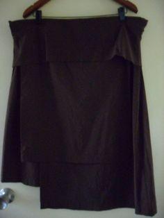 TS 14 plus skirt - brown - stretch waist  - size 18 - EUC
