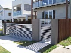 Lattice Fences Ideas : Lattice Fences And Gates Ideas With Modern Design Image id 10608 - GiesenDesign: Home Gate Design, House Fence Design, Main Entrance Door Design, Entrance Gates, Gate House, My House, Modern Wooden Doors, Grill Design, Minimalist Home