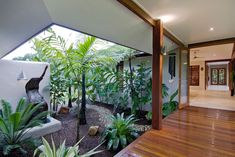 Home Decor Blue Wonga Beach blay Vandyke.Home Decor Blue Wonga Beach blay Vandyke Modern Tropical House, Tropical Beach Houses, Tropical House Design, Cheap Cottages, Cheap Houses, Bali Style Home, Atrium House, Courtyard House, Bungalow