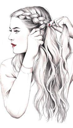 Cómo hacer un peinado con doble trenza drawings Doble trenza en cinco pasos Bff Drawings, Pretty Drawings, Pencil Art Drawings, Amazing Drawings, Art Drawings Sketches, Realistic Drawings, Beautiful Drawings, Cartoon Drawings, Beautiful Girl Drawing