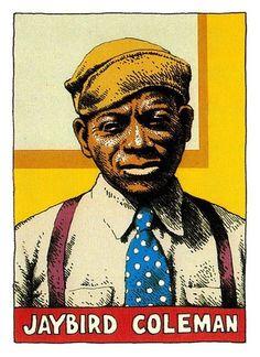 Blues Legend series - Jaybird Coleman by robert crumb