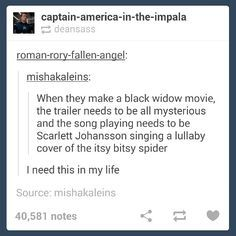 """Requirement for the """"Black Widow"""" trailer"""