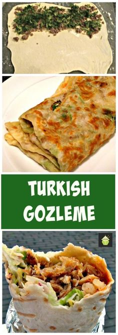 How to make Gozleme Turkish bread,Turkish pancake - Great filling suggestions in the recipe for you too! | http://Lovefoodies.com