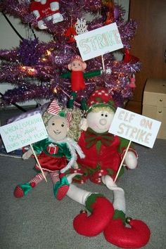 Elf goes on strike when kids are naughty.