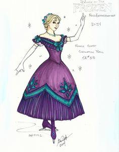 Disney On Ice Frozen, Frozen On Broadway, Frozen Musical, Anna Frozen, Costume Design Sketch, Elsa Olaf, Frozen Costume, Theatre Costumes, Paper Dolls