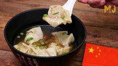 SOPA WANTÁN (O WONTON) | Las sopas más famosas del mundo Dumpling, Cooking Time, Sushi, Dishes, Ethnic Recipes, Youtube, Food, China, Asian Recipes