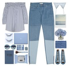 """Shades Of Blue / 73"" by dddawn ❤ liked on Polyvore featuring Reiss, Cosabella, Polaroid, Barbara Bui, Tanner Goods, Ethan Allen, Oscar de la Renta, Phytomer and Essie"