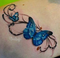 Cool 3D butterfly tattoo