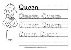Queen Handwriting Worksheet