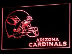 Arizona Cardinals Helmet LED Neon Sign - Red - SafeSpecial