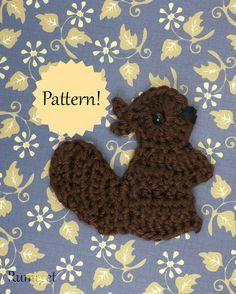 appliqué pattern baby beaver crochet applique free pattern ...