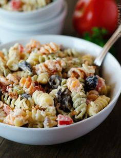 Bacon Ranch Pasta Salad - We loved this and so did the girls (M).  Will make regularly.  ~JKM Aug 2015