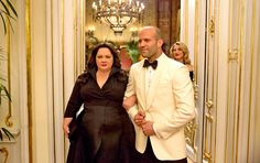 """Spy may be filled with a lot of famous comedyfaces, but the person who made Melissa McCarthy crack up the most on set was none other than Jason Statham.  """"I broke a lot with him,"""" she told EW and People editorial director Jess Cagle, adding, """"Him coming close and angry to me and then saying nonsense kind of destroyed me."""""""