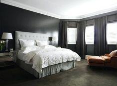 Uberlegen Dunkelgraue Schlafzimmer Wände