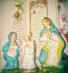The Virgin Mary, the Nativity, a Vintage Christmas at my house.... photo by Julie Cruzan