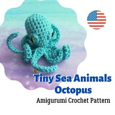 Amigurumi mini Octopus Crochet Pattern | Etsy Quick Crochet Patterns, Octopus Crochet Pattern, Crochet Patterns Amigurumi, Crochet Mouse, Rope Crafts, Handmade Crafts, Handmade Ideas, Etsy Handmade, Stuffed Toys Patterns