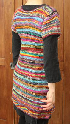 Knitting Projects, Knitting Patterns, Knitwear Fashion, Vintage Knitting, Textiles, Knit Dress, Mantel, Knit Crochet, Short Sleeve Dresses