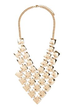 Square Bib Statement Necklace   FOREVER 21 saved by #ShoppingIS