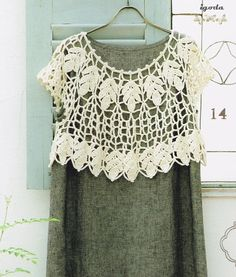 Patrones Crochet: Patron Crochet Capa Bolero