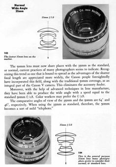 Canon wide angle lenses