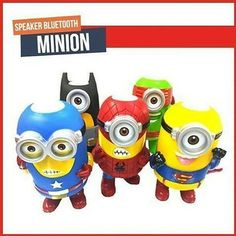 New  NEW Cosplay bluetooth speaker 14cm Minions Cosplay speaker The toys speaker as Avengers Super Hero Spiderman Superman Batman Captain America Ironman Thor Action bluetooth speaker Cartoon Portable Minions Speaker TF Card USB Speakers FM Radio MP3 MP4 Player tablet PC Louderspeaker specail desgin for your cosplay testhigh quanlity with good price. Pls remark the color you need in the order otherwise we will send you at randonthank you Specifcations: 1. Bluetooth Connection; 2. Built-in…