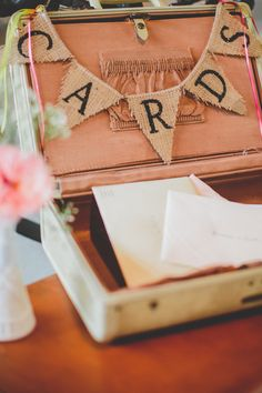 I have a decorative suitcase we can use for cards and can make bunting. Should say CATS! Low Cost Wedding, Diy Wedding, Wedding Stuff, Dream Wedding, Wedding Ideas, Rustic Weddings, Lace Weddings, Alternative Buttonholes, Amanda Johnson