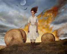 """""""Beyond Here""""  Andrea Kowch's Haunting Paintings of Rural Life 