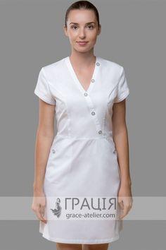 Uniform Dress, Shirt Dress, White Nurse Dress, Stylish Scrubs, Scrubs Uniform, Medical Scrubs, Nursing Dress, Jack Black, African Fashion