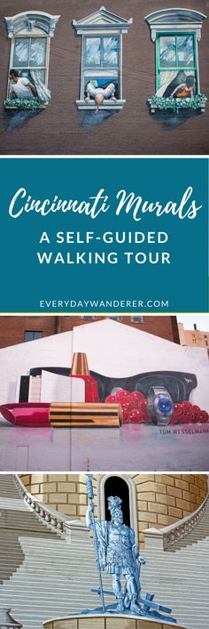 Tour more than 20 of Cincinnati's most amazing murals with this self-guided walking tour #cincinnati #ohio #streetart #mural #walking