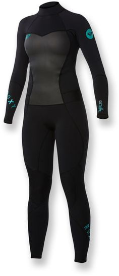 Roxy Syncro 2mm Back Zip Wetsuit - Women's I have this one, I love it, only thing I would change about it is to add zippers behind the calf/ankle to get this thing on quicker.