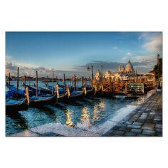 Gondoly v přístavu - fotoobraz 100 x 150 cm