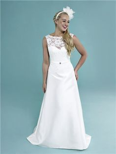 Lovely Lanting Bride Sheath Column Petite Plus Sizes Wedding Dress Ankle length Sweetheart