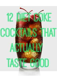 Do you hate the taste of diet soda in your drinks? Cosmo recipes has you covered with the BEST diet coke cocktails.