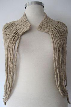 Crochet Beige Jacket / Hand Knitted Vest / Crochet Beige / Stylish Jacket /  Women's Accessories / has a choice of colors  / GOOLASHOP by GOOLASHOP on Etsy https://www.etsy.com/listing/262234880/crochet-beige-jacket-hand-knitted-vest