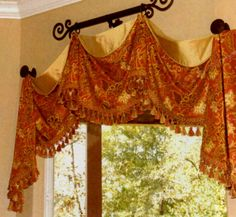 lift valance w/ contrasting lining visible, great way to cover up any molding Window Treatments, Window Decor, Curtains, Curtains Window Treatments, Custom Windows, Valance, Custom Window Treatments, Valance Window Treatments, Curtains With Blinds