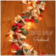 This Lighted Christmas Garland is perfect for Christmas or any holiday!