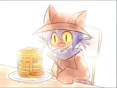 Niko with pancakes