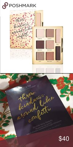 Tarte Young, Wild & Free Eyeshadow Palette Tarte Double Duty Beauty Young, Wild & Free Amazonian Clay Eyeshadow Palette✨New In Box ✨ Description: Product Details: - Shades: Simple Life (beige) Weekend (rose gold) Happy Place (light brown) Lucky Charm (bronze) Virtue (antique gold) Dream Team (copper) Party (champagne highlighter) Wow (dark charcoal liner) tarte Makeup Eyeshadow