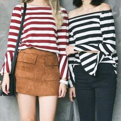 "Fashion horn sleeve stripe t-shirt SE9048   Coupon code ""sanrense"" for 10% off"